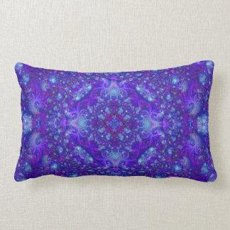 Fractually Frosty (series of 5 #2) Lumbar Pillow