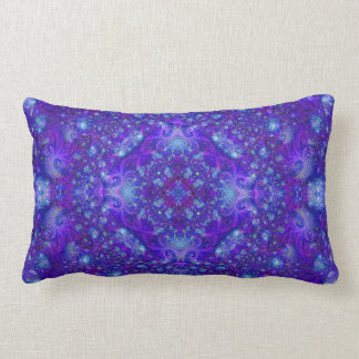 Fractually Frosty (series of five #2) Lumbar Pillow