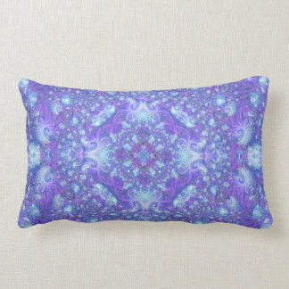 Fractually Frozen Mandala Pillow (series of 5 #5)