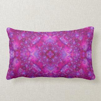 Fractually Fuschiaesque (series of 5 #4) Lumbar Pillow