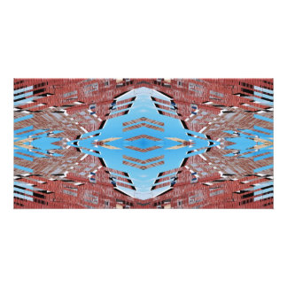 Fractured Barn - Weird Abstract Customized Photo Card