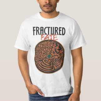 Fractured Fate shirt with authors and characters