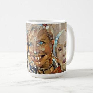 Fractured Friendly Ladies jumbo mug