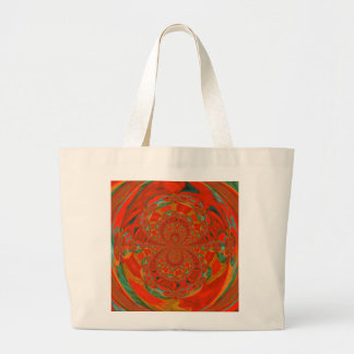 Fractured Moment Abstract Design Jumbo Tote Bag