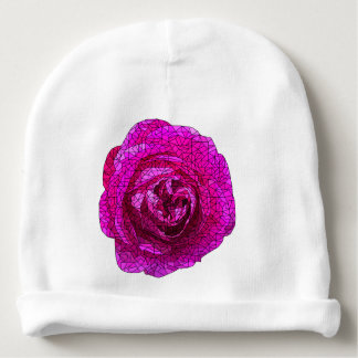 Fractured Rose Pink Baby Beanie