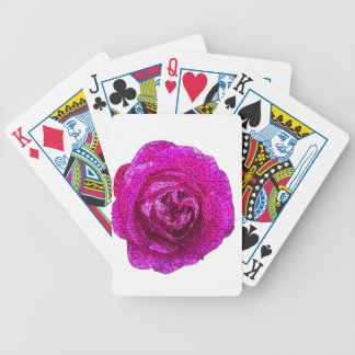 Fractured Rose Pink Bicycle Playing Cards