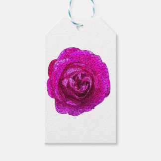 Fractured Rose Pink Gift Tags