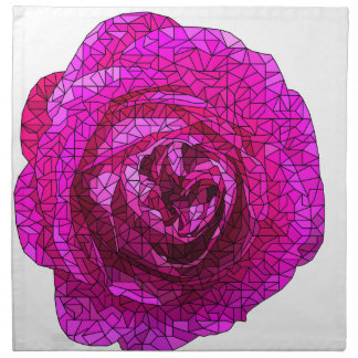 Fractured Rose Pink Napkin
