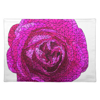 Fractured Rose Pink Placemat