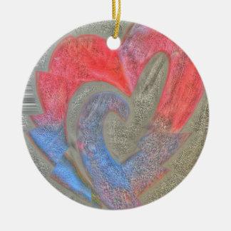 Fractured Wild Heart Ceramic Ornament