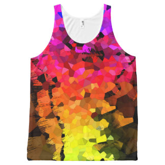 Fractures All-Over-Print Tank Top