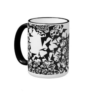 Fractyl Pterodactyl Swarms Ringer Coffee Mug