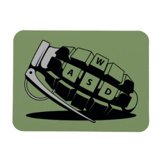 Frag Grenade Rectangular Photo Magnet