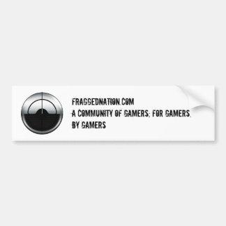 FraggedNation.com Bumper Sticker