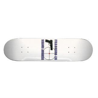 Fragging est des affaires sérieuses skateboard old school 18,1 cm