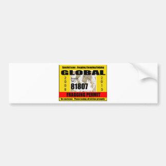 Fragging Permit Bumper Sticker