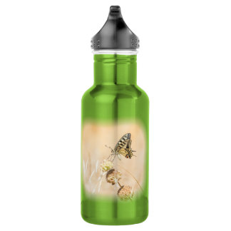 Fragile beauty of swallowtail butterfly 532 ml water bottle