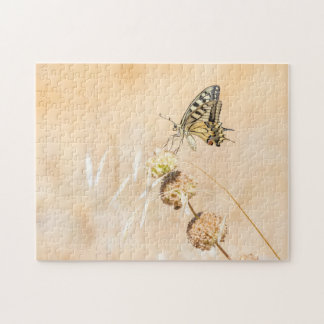 Fragile beauty of swallowtail butterfly jigsaw puzzle