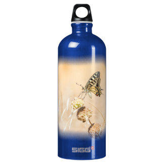 Fragile beauty of swallowtail butterfly water bottle