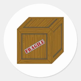 Fragile Box Classic Round Sticker