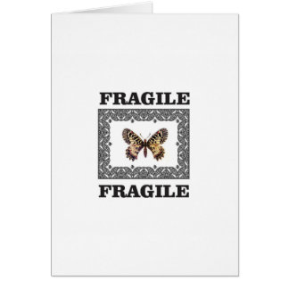 fragile butterfly card