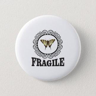 Fragile butterfly sticker 2 inch round button