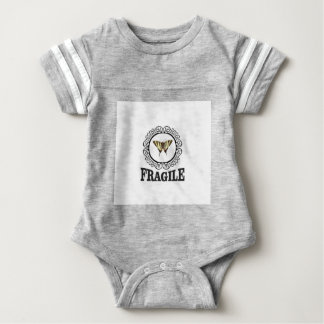 Fragile butterfly sticker baby bodysuit