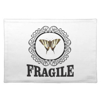 Fragile butterfly sticker placemat