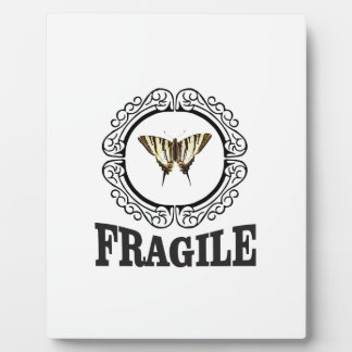 Fragile butterfly sticker plaque
