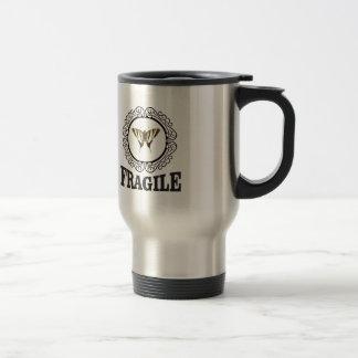 Fragile butterfly sticker travel mug