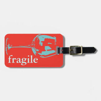 fragile caution sign luggage tag