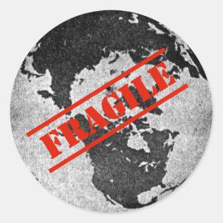 Fragile Classic Round Sticker