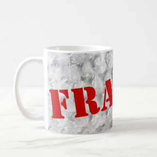 Fragile coffee mug  | Bubble wrap design