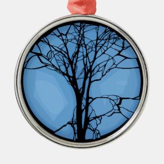 Fragile Ecosystem Silver-Colored Round Ornament