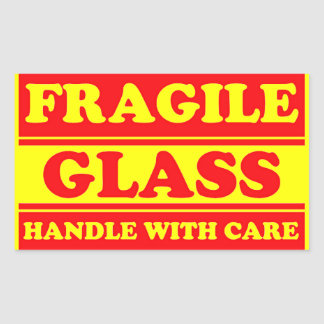 Fragile Glass Shipping Label