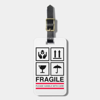 Fragile Handle with care graphic label design Luggage Tag