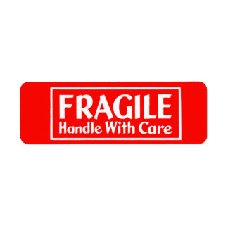 Fragile Handle With Care Warning Label