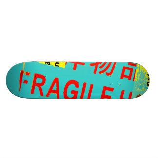 FRAGILE Markings - Torn Peeled Package Skate Board Decks