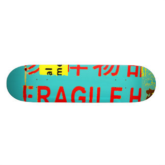 FRAGILE Markings - Torn Peeled Package Skateboard Deck