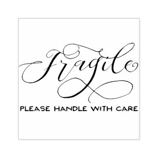 Fragile - Please Handle with Care Stamp