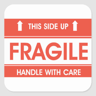 Fragile Sign Stickers