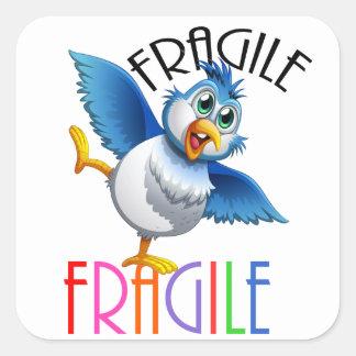 FRAGILE SQUARE STICKER