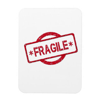 Fragile Stamp Magnet