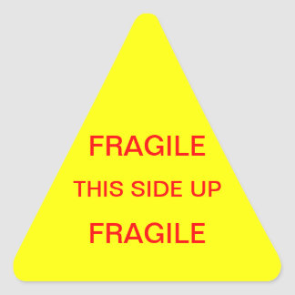 Fragile This Side Up Triangle Sticker