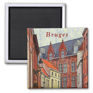 Fragment of the architecture of St. John in Bruges Magnet