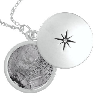 Fragmented Fractal Memories and Shattered Glass Locket Necklace