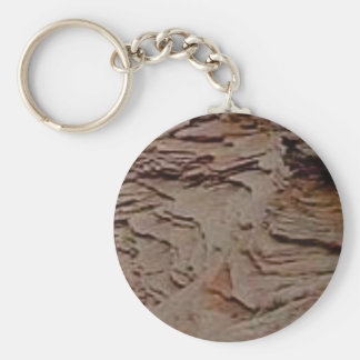fragments chips in rock keychain