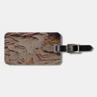 fragments chips in rock luggage tag