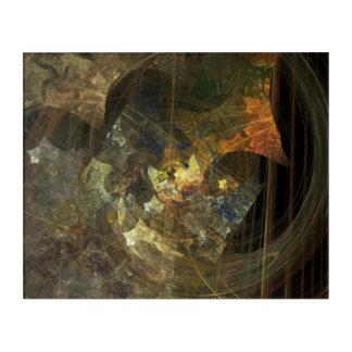 'Fragments' Fractal Abstract Panel Acrylic Print