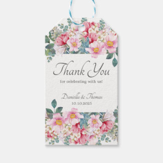 Fragrant Garden Elegant Wedding Gift Tags